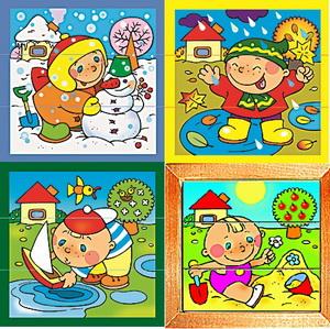 времен года для малышей картинки