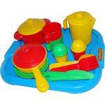 Набор детской посуды НАСТЕНЬКА с подносом на 2 персоны